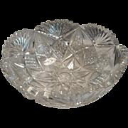Circa 1920 cut glass bowl from american brilliant period