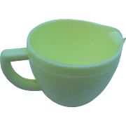 Vintage mckee  glass co jadeite measuring cup