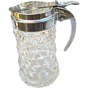 Vintage crystal 5 inches tall syrup pitcher
