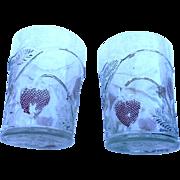 Two vintage Westmoreland della roba 4 inch glasses