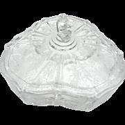 Vintage fostoria elegant glass in rosepoint pattern 3 part covered relish dish