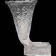 Cieca 1910 pressed glass cornicopia horn of plenty 9 inch vase