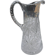 American Brilliant period cut glass 9 inch water pitcher