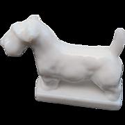 Vintage Imperial glass milk glass scottie dog