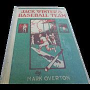1919 edition of jack Winters baseball team young boys reading baseball