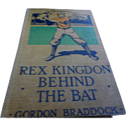 1916 edition  Rex Kingdon behind the bat baseball for young adults