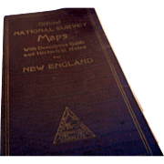 1926 national survey map and guide for Vermont and New Hampshire