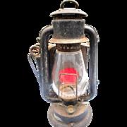 Rayo gold blast red lense kerosene railroad lantern