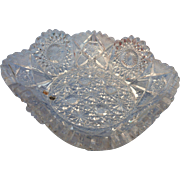 Cut glass bowl from American brilliant period
