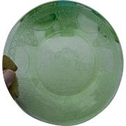 Vintage Anchor Hocking green cameo 8 1/2 inch plate