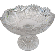 Circa 1900 cut glass american brilliant period compote
