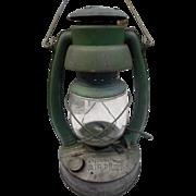 Vintage kerosene railroad farm kerosene lamp Embury n. y. noq 2