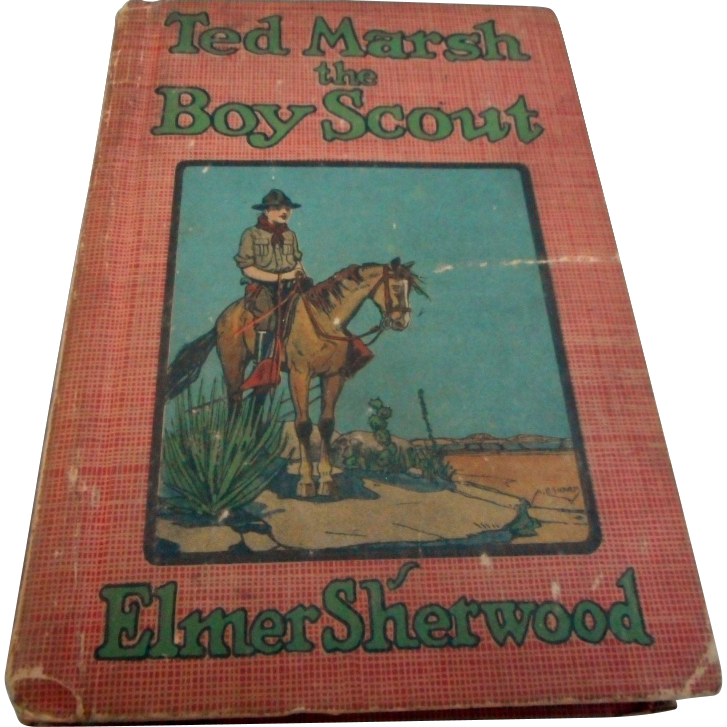 vintage boy scout book ted marsh  boy scout hard cover  bobs antiques  ruby lane