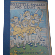 1936 edition of big little smaller and least by Mary betsy hill