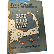 1955 edition dust jacket cape cods way  information on cape cods towns by scottCorbett