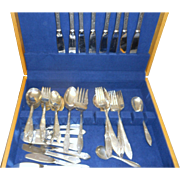 53 piece set Tiffin sterling silver  lady clair flatware