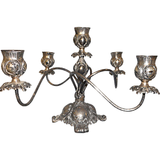 Circa 1890 silverplaee candelabra made by Pairpont 5 sticks