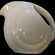 Vintage hall pottery white almond pitcher