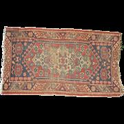 Vintage oriental rug 21 x 38 inches