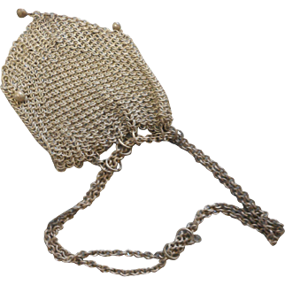 Circa 1890 ladies mesch wire small purse