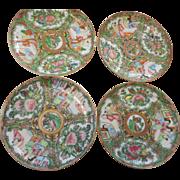 4 circa 1890 Rose medallin 5 1/2inch plates