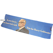 19 x 64 blue banner in your heart you know hes right vote for Barry Goldwater with photo