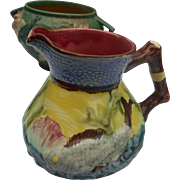 1920 circa Majolica art pottery pitcher stoke on trent. In excellent condition and satisfaction guranteed.