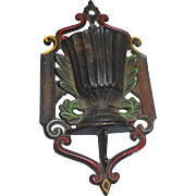 Vintage metal marked winton match safe holder