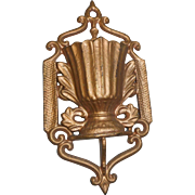 Dated 1867 cast iron match safe holder