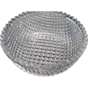 Round  american brilliat period  cut glass diamond  cut bowl