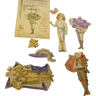 1894 Rapheal tuck dressing paper dolls and envelope