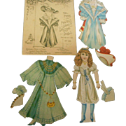 1894 Rapheal Tuck paper dressing dollswith original envelope