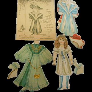 1894 Rapheal Tuck paper dressing dollswith original envelope
