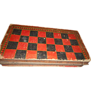 Circa 1900 cadboard folding game box decorated