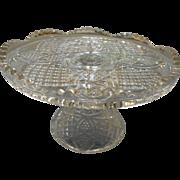 Vintage eapg elevated cake platter