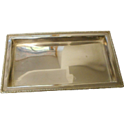 Heavy silver plate hotel ware filigry rectangle tray