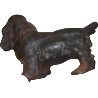 Circa 1890 cast iron Springer dog door stop