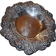 Vintage silver plate highly decorated bowl