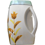 Vintae   square floral pitcher handle in the cornor made by trtrico in japan