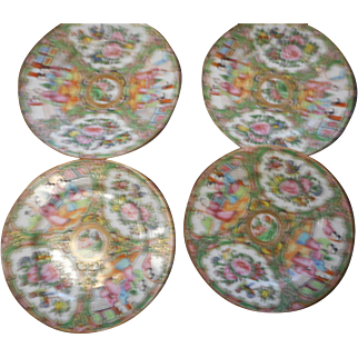 Four circa 1900 imari 7 3/4 inch mint condition plates