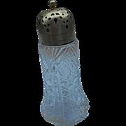 Circa 1900 cut glass sugar shaker American Brilliant period polished pontjl cut star on bottom