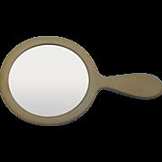 Vintage vanity celluloid hand mirror