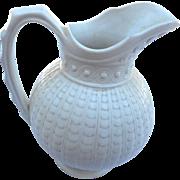 Circa 1890  salt glaze white 6 inch pitcher