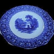 Circa 1910 blue transfer ware 10 inch plate