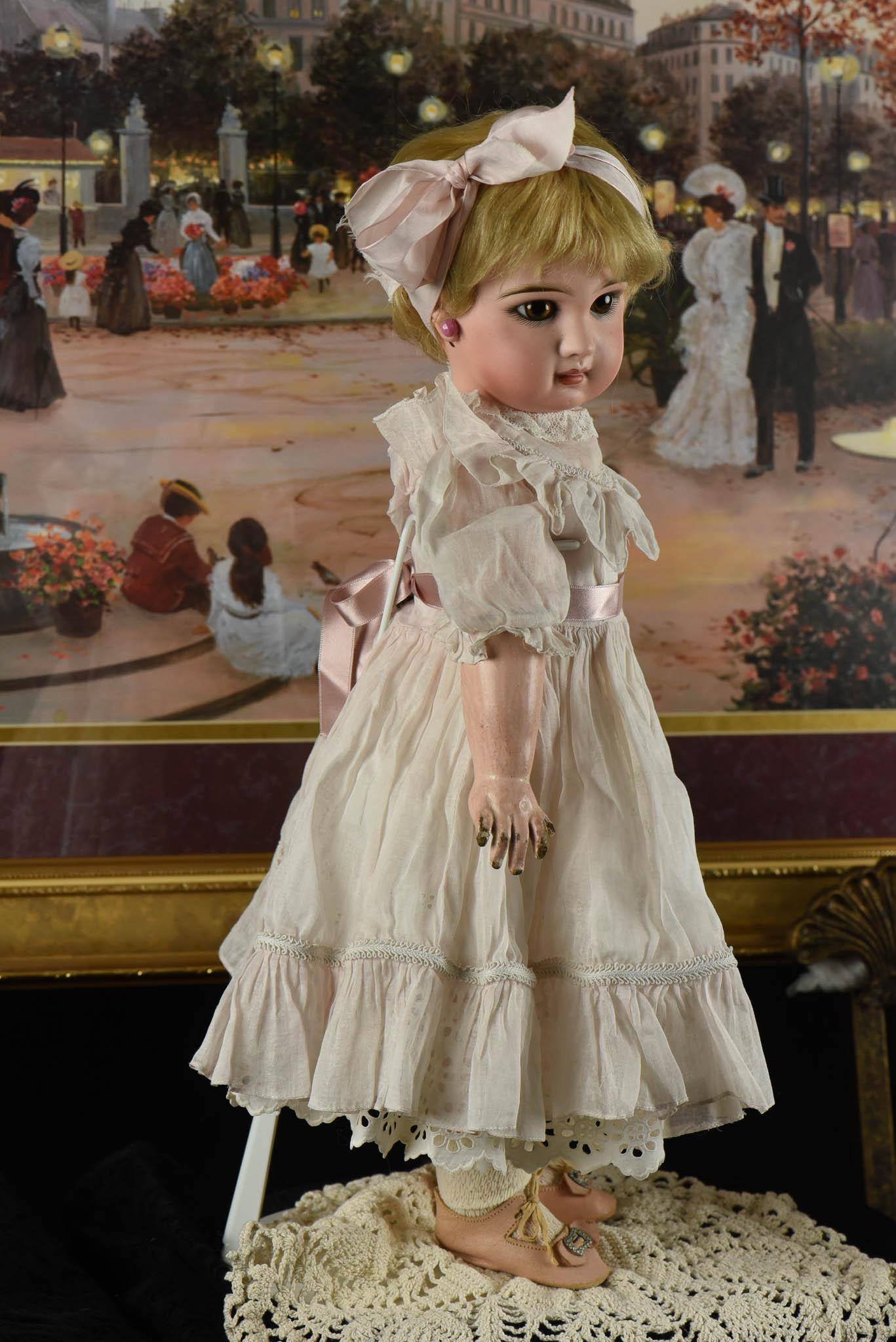 "Beautiful 21"" Jumeau Bebe, Number 9 From Mademoiselle"