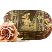 Beautiful Antique Celluloid Necessaire Box for Dressing Table