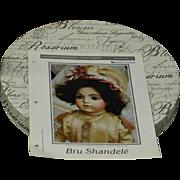 Doll Worksheet, Bru Shandele, Fourth Series