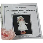 Jean Nordquist presents Collectible Doll Fashions by Beverly Anderson