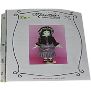 "Dress and Bonnet Sewing Pattern for 16-19-22"" Doll"
