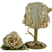Beautiful Antique Silk Ribbon and Lace Bonnet